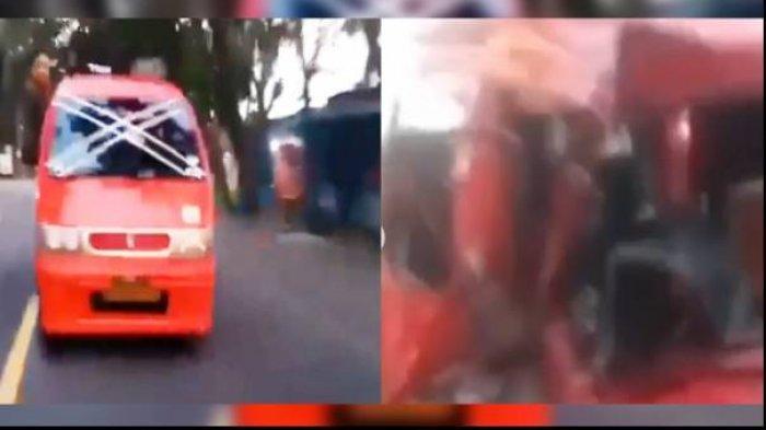 Viral Rekaman Kecelakaan Sopir Angkot Banyak Tingkah, Sengaja Duduk di Pintu Saat Mobil Berjalan