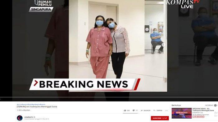 Selain Keluarga Belum Boleh Tengok Jenazah Ibu Ani Yudhoyono