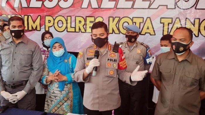 Polresta Tangerang langsung melakukan ungkap kasus penganiayaan seorang pria kepada anak balita berumur 2 tahun di Sindang Jaya, Kabupaten Tangerang, Selasa (16/3/2021).