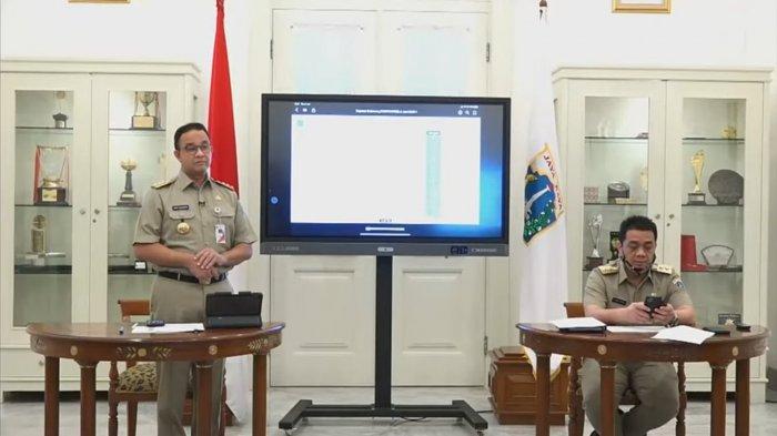 Anies Baswedan Umumkan PSBB, Wagub DKI Jakarta Tak Dapat Kesempatan Bicara, Hanya Duduk dan Main HP