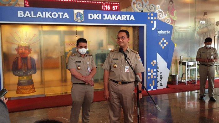 Gubernur DKI Jakarta Anies Baswedan saat ditemui di Balai Kota, Senin (10/5/2021).