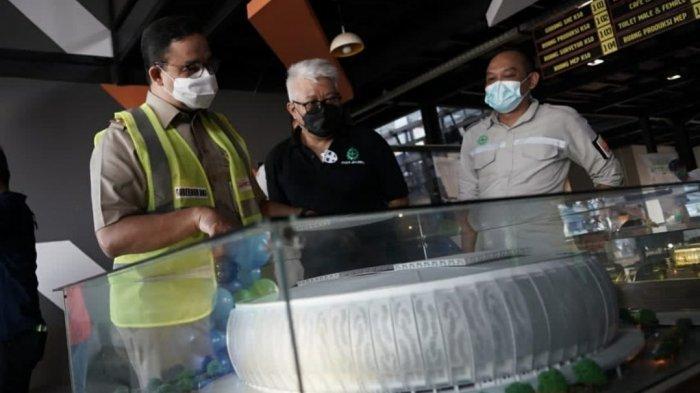Tangakapan layar dari instagram resmi Gubernur Anies Baswedan saat dirinya meninjau pembangunan JIS.