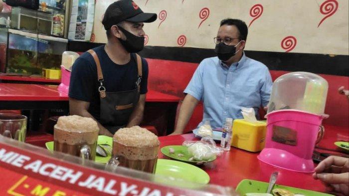 Ngobrol Bareng Pegawai Mie Aceh di Pasar Minggu, Anies Baswedan: Mau Cari Istri Orang Mana?