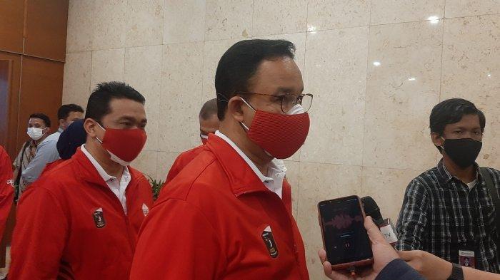Gubernur DKI Jakarta Anies Baswedan dan Wakil Gubernur DKI Jakarta Ahmad Riza Patria mendoakan para atlet perwakilan ibukota sukses di PON Papua XX, Rabu (15/9/2021).