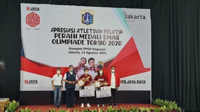 Gubernur DKI Jakarta Anies Baswedan mengabadikan nama peraih medali emas Olimpiade Tokyo 2020 Greysia Polii/Apriyani Rahayu menjadi nama sebuah gedung di Pusat Pelatihan Olahraga Pelajar (PPOP) Ragunan.