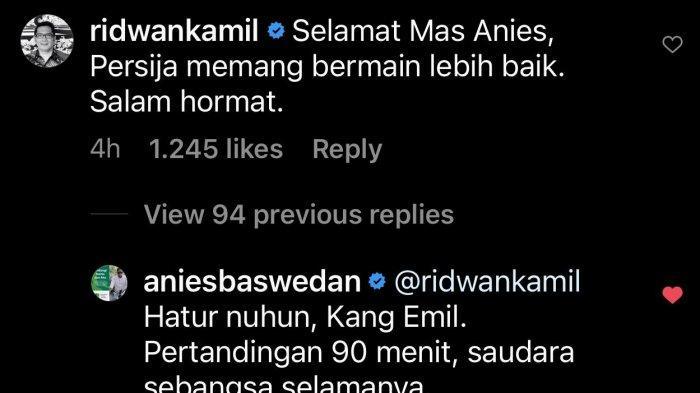 Ucapan selamat Ridwan Kamil ke Anies Baswedan