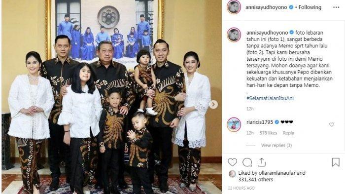 Unggah Foto Lebaran Tanpa Ani Yudhoyono, Annisa Pohan: Kami Berusaha Tersenyum