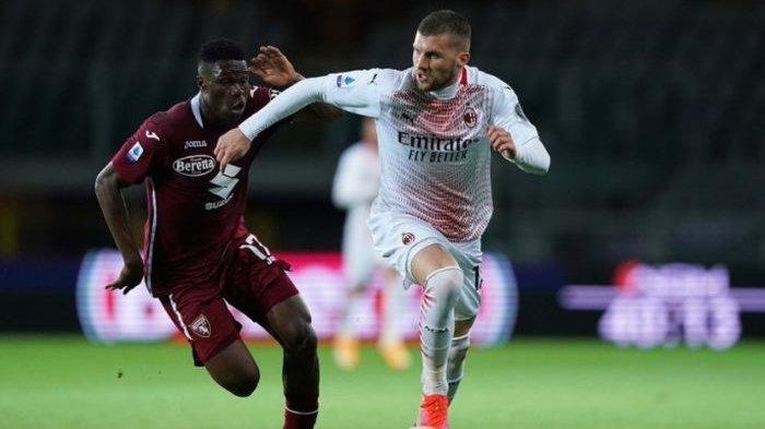 Hasil Liga Italia - Ante Rebic Hattrick, AC Milan Hancurkan Torino Skor Telak 7-0