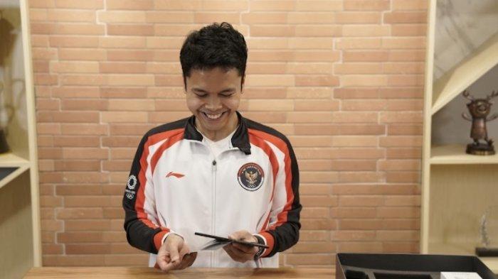 Anthony Ginting dan 5 Atlet Peraih Medali Lainnya Diganjar Hadiah Smartphone