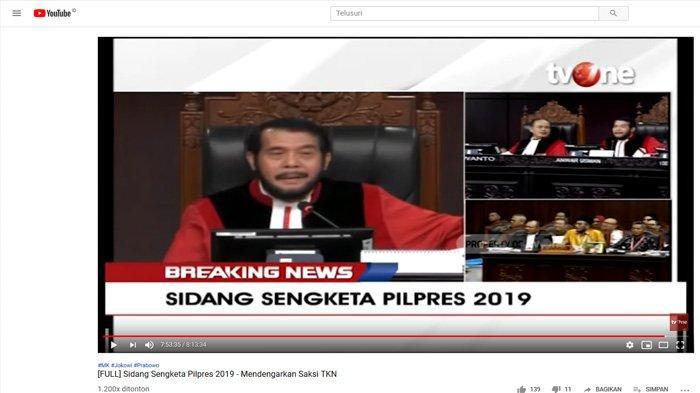 Sidang Putusan Sengketa Pilpres 2019, Ketua MK: Kami Mempertanggungjawabkan Ini Kepada Allah
