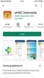 Aplikasi e-HAC di Google PlayStore.