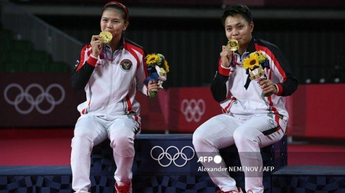 Greysia Polii/Apriyani Rahayu Raih Medali Emas, Erick Thohir Ucap Selamat: Sampai Ketemu di Jakarta!