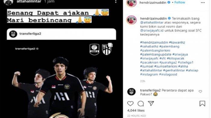 Liga 2 Curi Perhatian, Menanti Dua Skema Rahasia untuk Atta Halilintar yang Disiapkan Sriwijaya FC