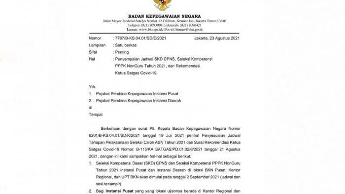 Wajib Pelamar Seleksi Cpns Dan Pppk 2021 Harus Bawa Sertifikat Vaksin Dan Hasil Swab Saat Tes Skd Tribun Jakarta
