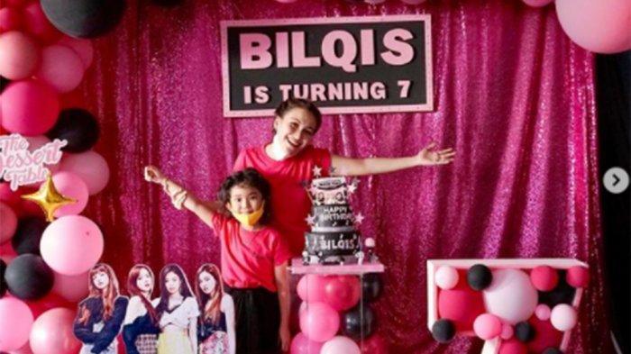 Ultah ke-7, Bilqis Khumairah Razak Putri Ayu Ting Ting Bahagia Terima Kado dari Keluarga Adit