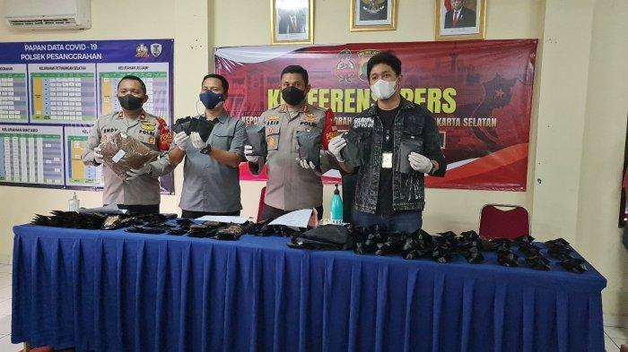 Polsek Pesanggrahan Amankan Pembuat Tembakau Sintetis di Tangerang, Pelaku Terancam 20 Tahun Penjara