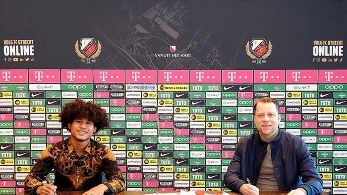 Penyerang Bagus Kahfi diresmikan menjadi pemain baru klub Liga Belanda, FC Utrecht