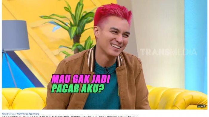 Disebut Demam Seusai Putus dengan Marshanda oleh Raffi Ahmad, Ini Reaksi Baim Wong