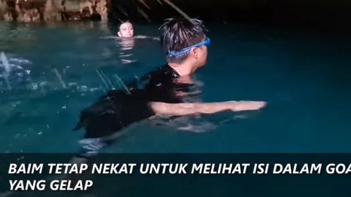 Baim Wong Penasaran Datangi Titik Menyeramkan Saat Ajak Kiano Berenang di Goa Rangko: Takut Ada Itu