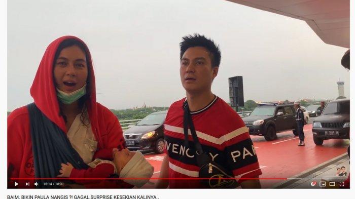 Baim Wong Marah saat Dijemput di Bandara Karena Ini, Paula Verhoeven: Dia Gak Tahu Perjuangan Kita!