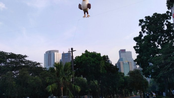 Sepekan Usai Asian Para Games 2018, Balon Momo 'Si Elang Bondol' Masih Melayang di GBK