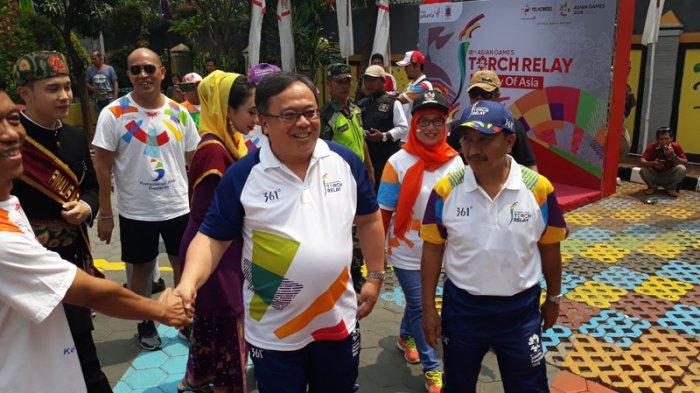 Jadi Pelari Pertama Obor Asian Games di Jakbar, Menteri PPN Berharap Indonesia Masuk 10 Besar