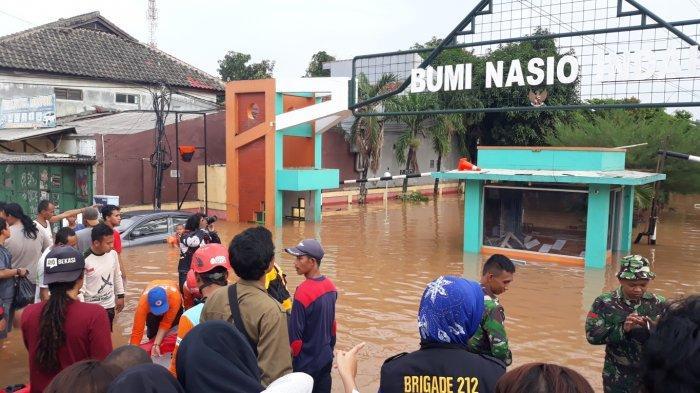 Banjir Dua Meter, Perumahan Bumi Nasio Indah Bekasi Jadi Lokasi Paling Parah Terdampak Banjir