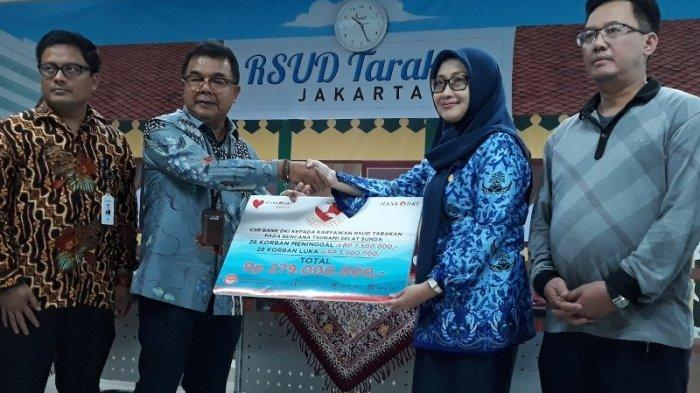 Bank DKI Beri Bantuan Rp 286 Juta untuk Pegawai RSUD Tarakan yang Jadi Korban Tsunami