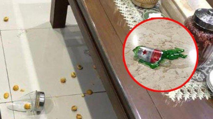 Disaksikan Polisi, Anggota DPRD Banting Botol Bir di Pendopo Bupati Hingga Tantang Satpol PP