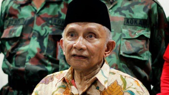 Joko Widodo-Maruf Amin Menang di TPS Tempat Amien Rais Mencoblos