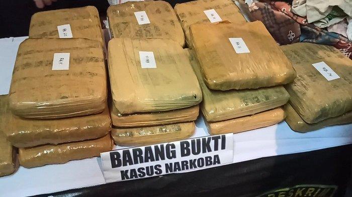 Pengedar Jaringan Sumatera Sembunyikan 27 Paket Ganja dalam Karung Pakaian Bekas