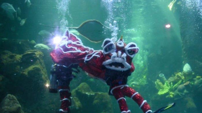 Barongsai dalam Air Bakal Meriahkan Imlek 2021 di Taman Impian Jaya Ancol