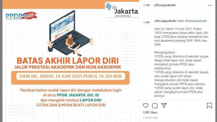 Ditutup Hari Ini Pukul 14.00 WIB, Ini Cara Lapor Diri PPDB DKI Jakarta untuk Jalur Prestasi