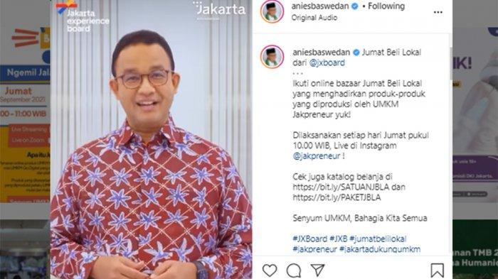 Senyum Semringah, Gubernur Anies Pamer Batik Baru Merah Marun Awali Jumat Ceria