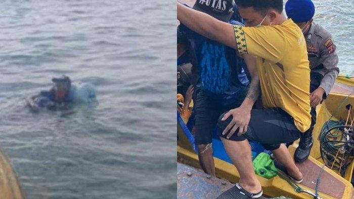 Imbas Kisruh Rumah Tangga Kakak, Pria 27 Tahun Nekat Berenang dengan Galon dari Balikpapan ke Malang