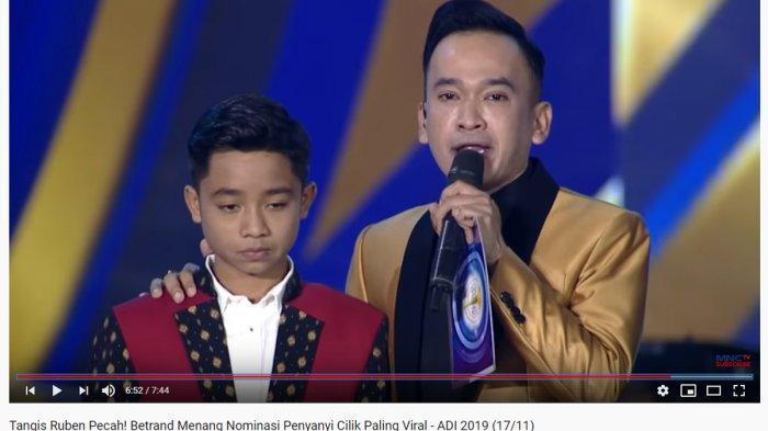 Betrand Peto Dapat Penghargaan Pertama di ADI 2019, Ruben Onsu: Jadi Tanggung Jawab Besar