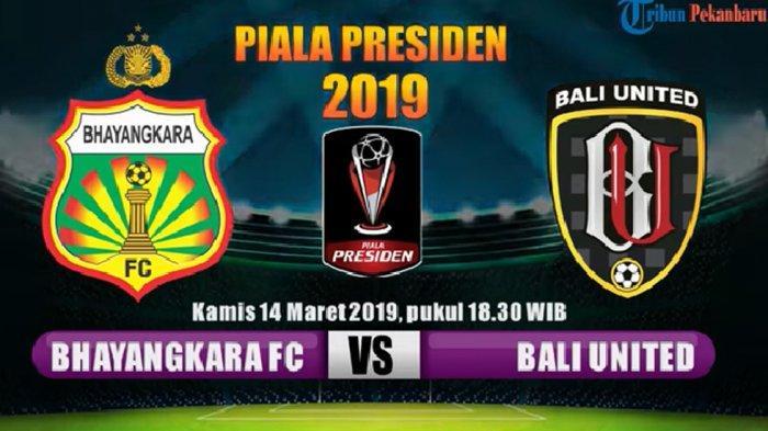 Live Streaming Bhayangkara FC vs Bali United pada Kamis Malam: Laga Penentuan