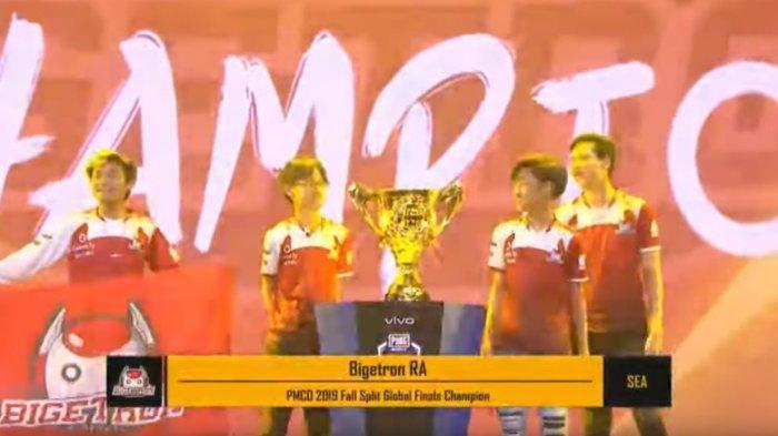 Bigetron RA Juara Dunia PUBG Mobile PMCO Fall Split Global Final 2019, Kantongi Hadiah Hampir Rp 3 M