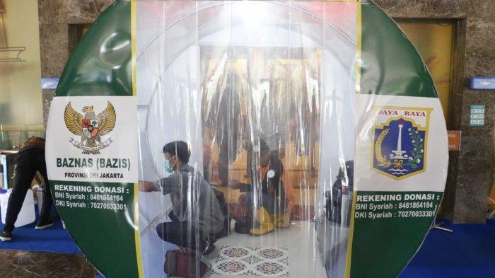 Cegah Corona, Baznas Beri Bantuan 4 Bilik Disinfektan Untuk Pemprov DKI
