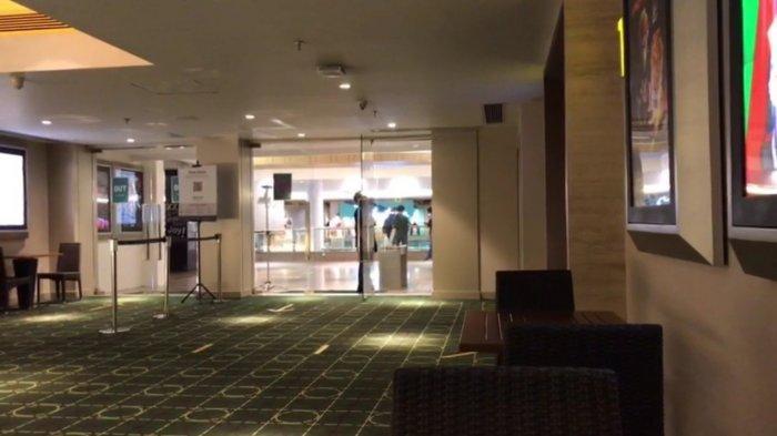 Bioskop Cinema XXI di Blok M Plaza, Kebayoran Baru, Jakarta Selatan, masih sepi pengunjung, Kamis (16/9/2021).