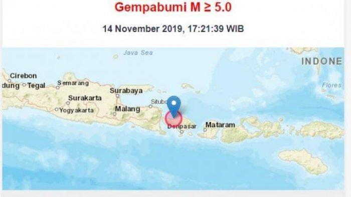Gempa Guncang Buleleng Bali Sore Ini, Tak Berpotensi Tsunami