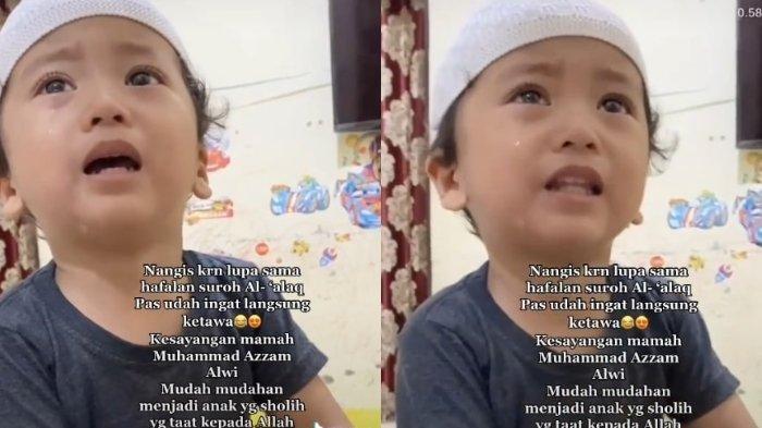 Video Bocah 3 Tahun Nangis Lupa Hafalan Alquran & Tersenyum Saat Ingat Ditonton Lebih 1,6 Juta Kali