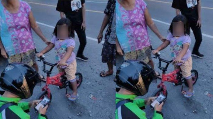 Main Sepeda Sendirian Tak Sadar Jauh dari Rumah, Bocah Perempuan Tersasar, Berakhir di Kantor Polisi