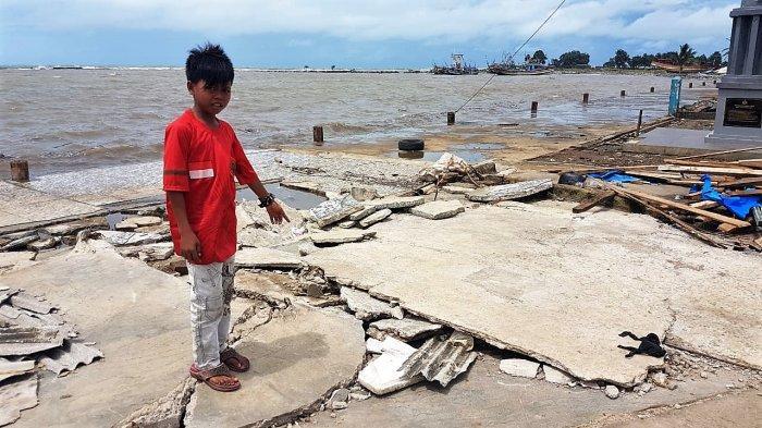 Kesaksian Danu, Bocah Pekerja di Pelelangan Ikan Labuan Usai Diterjang 4 Kali Gelombang Tsunami