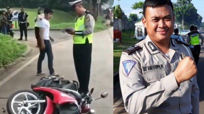Cerita Polisi Sabar Jadi Sorotan Hadapi Pemuda Ngamuk Rusak Motor Sendiri, Berikut Sederet Faktanya