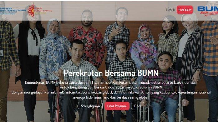 Pendaftaran Rekrutmen BUMN Tersisa 4 Hari, Simak Alurnya dan Cara Login di Website FHCIBUMN