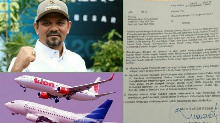 Instruksi Bupati Aceh Besar Soal Larangan Pesawat Beroperasi Saat Lebaran, Begini Sederet Faktanya