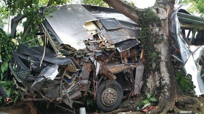 Bus Pariwisata Angkut Puluhan Pelajar Kecelakaan di Sukabumi, 2 Penumpang Meninggal Dunia