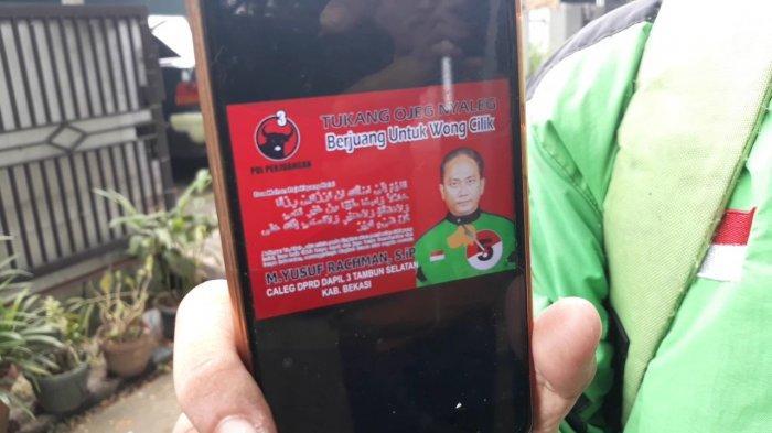 Modal Minim, Pengemudi Ojol yang Nekat JadiCaleg di Bekasi CumaBeli Stiker 3 Rim