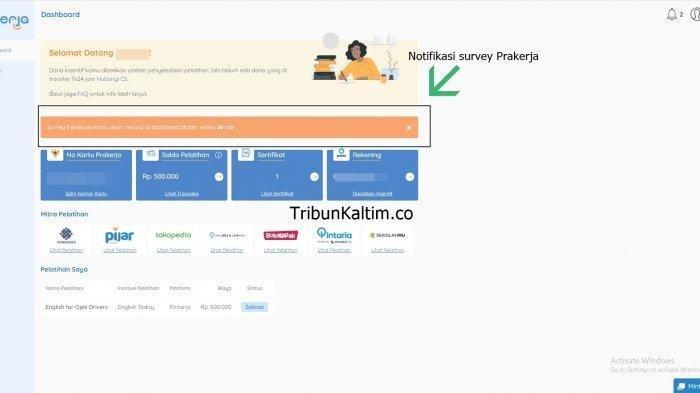 Cara Mengisi Survey Prakerja di prakerja.go,id, Mengapa Survey Prakerja Tidak Muncul di Dashboard?